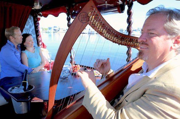 Kim Kirkman harp couple